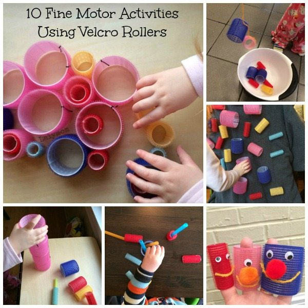 Using Velcro Rollers for Fine Motor Skills Development for kids from Lalymom