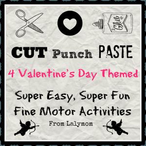Valentine's Day Cutting Practice Activities- Fine Motor Fridays
