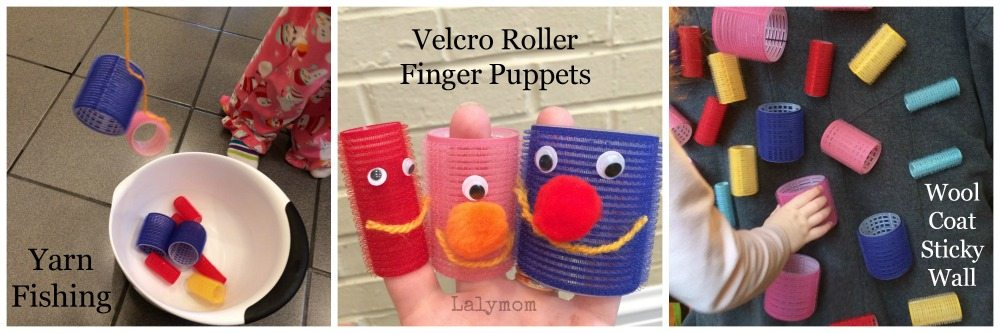 Velcro Roller Fishing, Finger Puppets and Sticky Wall from Lalymom