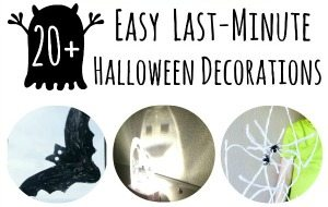 20+ Easy, Last- Minute Halloween Decorations on Lalymom.com - Great for around the house or for a party! Sidebar