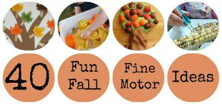 40 FUN Fall Fine Motor Activities on Lalymom.com - oh these look fun! SIDEBAR
