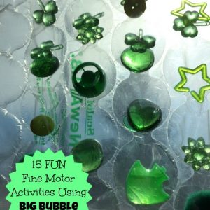Fun Fine Motor Activities Using BIG Bubble Wrap