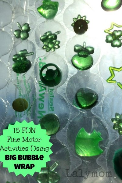 Fun Fine Motor Activities Using BIG Bubble Wrap