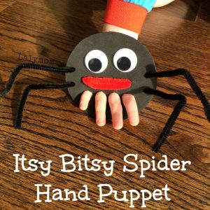 Itsy Bitsy Spider Hand and Finger Puppet from Lalymom