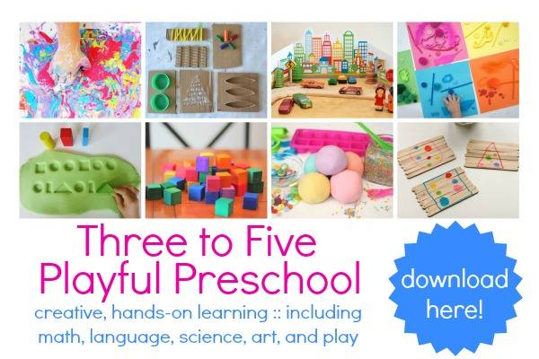 Playful Preschool Activities Book for Three to Five Year Olds from Lalymom