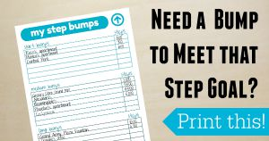 Step Bumps Step Goal Printable for Fitbit, Jawbone and other Fitness Trackers Sidebar