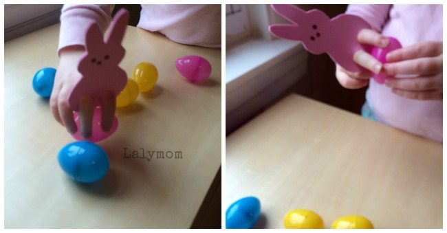 Fine Motor Skills Practice with Peeps Puppets Easter Games from Lalymom