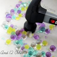 Hammering Water Beads Fine Motor Activities for Preschoolers