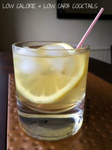 Low Calorie Whiskey Sour and Other Low Calorie, Low Carb Cocktail Ideas from Lalymom