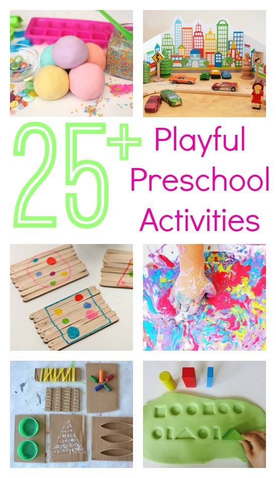 25 Fun Preschool Activities from Top Kid Bloggers on Lalymom