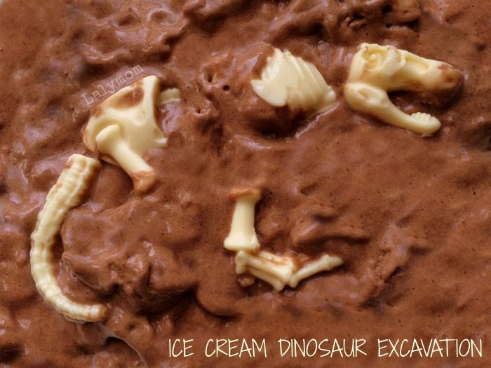 Dinosaur Dessert! Ice Cream Dinosaur Excavation made with healthy banana ice cream! Perfect for Dinosaur lovers or a dinosaur birthday party! Come see how on Lalymom