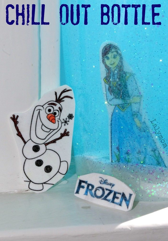 Disneys Frozen Craft Glitter Chill Out Bottle with Anna and Elsa on Lalymom