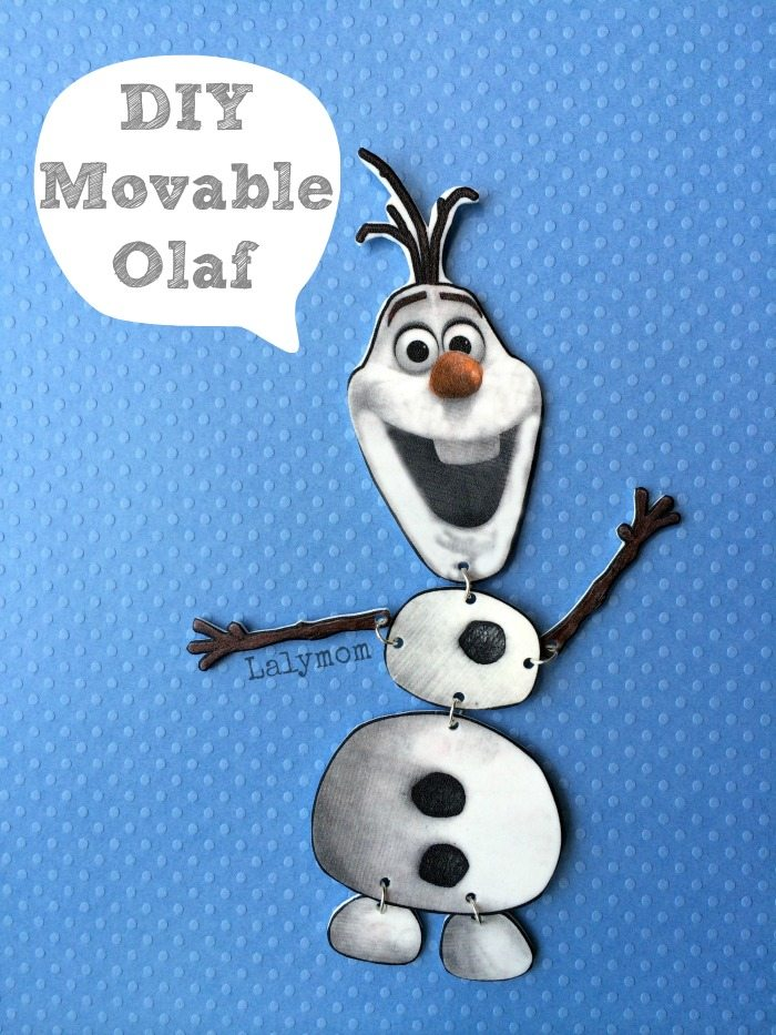 Frozen Olaf Craft - Jointed Movable Olaf Figure from Disney's Frozen. Uses free Printables. On Lalymom