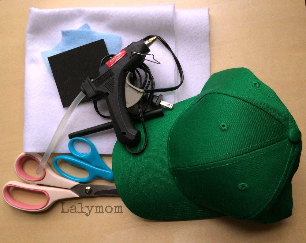 Materials Needed to Make a DIY Dinosaur Baseball Cap from Lalymom
