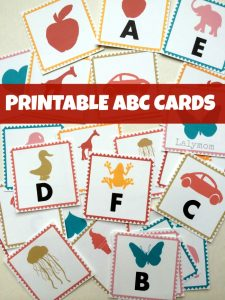 Printable ABC Letter Cards from Lalymom - Three different print options means you can make flashcards, memory match cards and magic reveal cards!