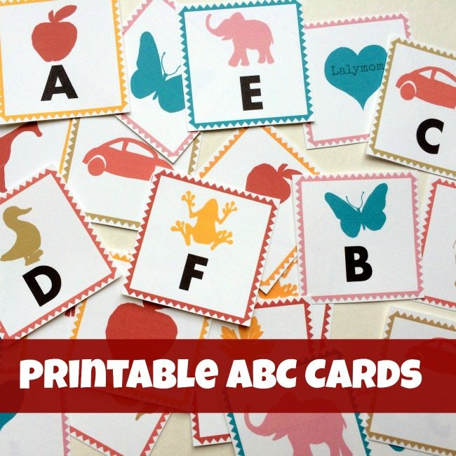Printable Alphabet Flash Cards from Lalymom - Beautiful printable cards, available in three print formats for flash cards, memory match cards or magic reveal cards!
