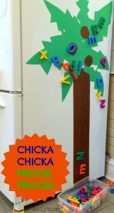 Chicka Chicka Boom Boom Tree Craft for your Fridge on Lalymom.com