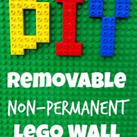 DIY Removable Non-Permanent LEGO Walls