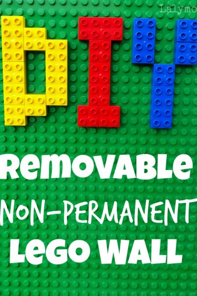 DIY Removable Non-Permanent LEGO Walls