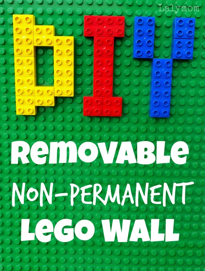 DIY Removable Non-Permanent Lego Walls from Lalymom. Great for any Duplo or Lego Lover.