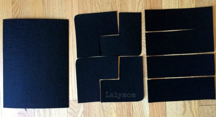How to cut felt road pieces from felt sheets on Lalymom
