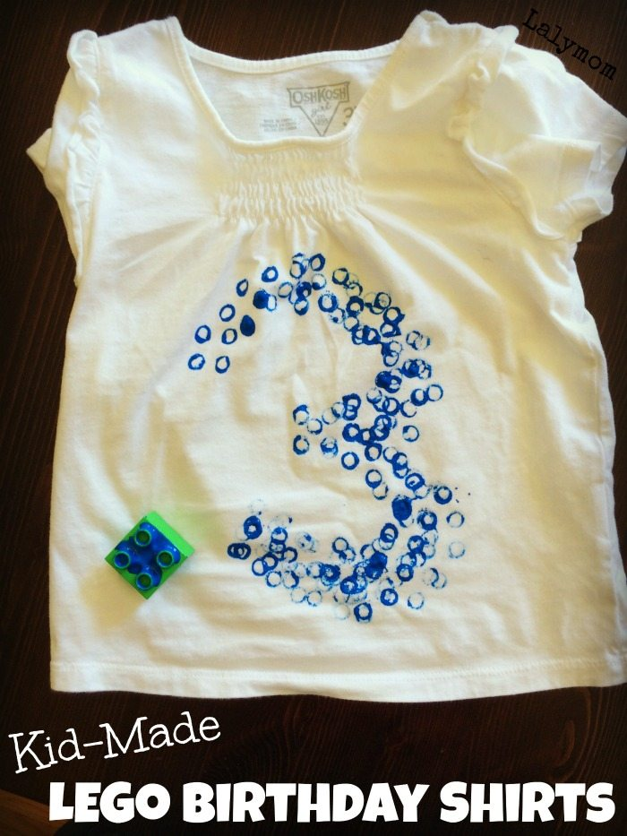 Kid Made LEGO Birthday Shirts - perfect for the LEGO Lover Birthday party or special day! From Lalymom
