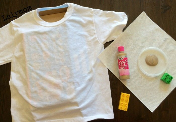 Tutorial for Easy LEGO T-shirts for a LEGO birthday party from lalymom