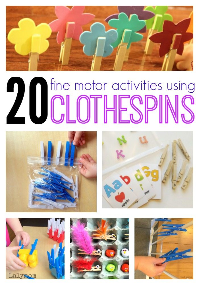 Fine Motor Skills Activities With Clothespins Lalymom
