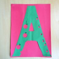 A is for Apple CUT-Punch-PASTE Craft