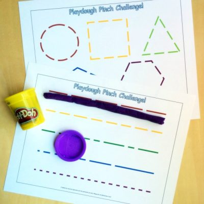 Free Printable Fine Motor Activities for Pinch Strength - Play Dough Pinch Challenge on Lalymom.com