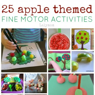 25 Apple Themed Fine Motor Skills Activities