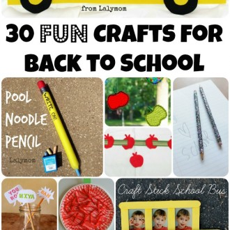 30 FUN Back to School Crafts