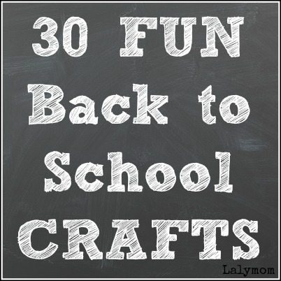 30 Fun Back to School Crafts for Kids on Lalymom.com. Click through to see them all!