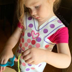 Sticky Dress & Robot Preschool Fine Motor Activities