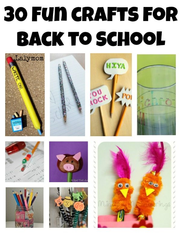 Pencil, Apple and School Bus Back to School Crafts Ideas for kids on Lalymom.com