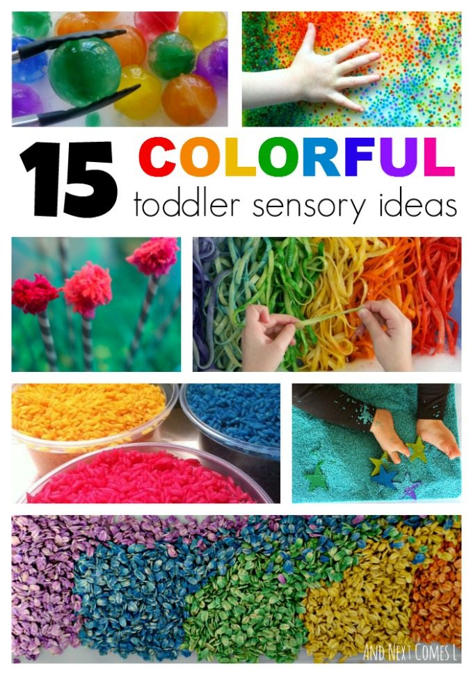 15 AWESOME Colorful toddler sensory ideas