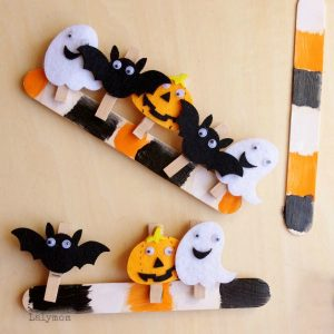 Halloween Clothespins and Pattern Sticks