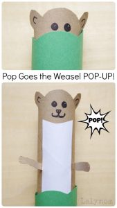 Pop Goes the Weasel Pop-Up Craft for Kids on Lalymom.com - Great nursery rhyme extension activity!