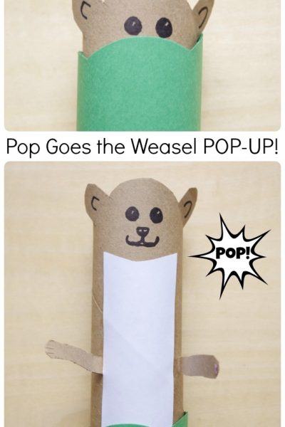 Pop Goes the Weasel Pop-Up Craft for Kids