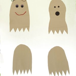 Contact Paper Ghost Crafts for Kids