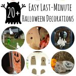 List of 20+ Easy Lasy Minute DIY Halloween Decorations on Lalymom.com - how fun!