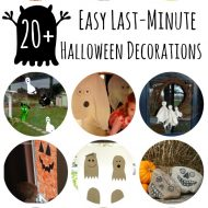 Last-Minute Easy DIY Halloween Decorations