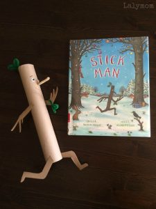 Stick Man Book Crafts for Kids on Lalymom.com Part of the Virtual Book Club for Kids - my kids love this book!