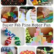 Super Fab Fine Motor Fun - Fine Motor Fridays Anniversary on Lalymom.com - so many fun ideas!