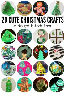 20 Cute Christmas Crafts to Do with Toddlers - my son would love these!