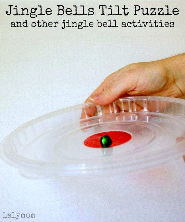 3 Fun Christmas Activities for Kids that Use Jingle Bells on Lalymom.com - simple jingle bells tilt puzzle - how cool!