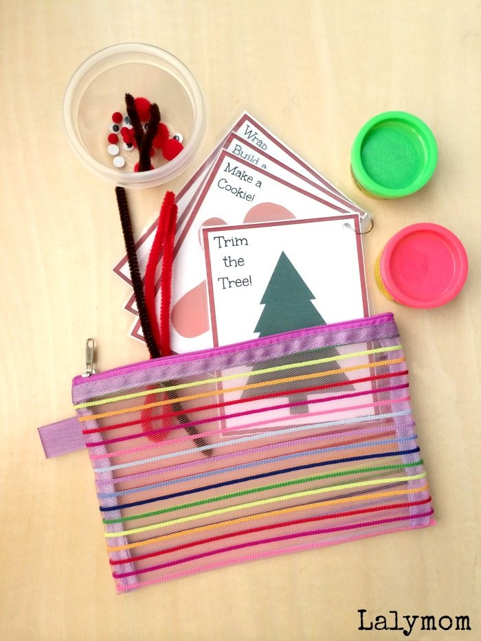 Christmas Busy Bag Printable Activity Cards on Lalymom.com Click to get your printable copy!