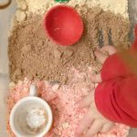 Cloud Dough Recipe Based on the Sweet Smell of Christmas Childrens Book on Lalymom.com great sensory play idea!