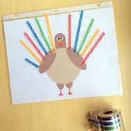 Kids Thanksgiving Craft- Turkey Placemat Printable