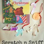 Christmas Ornaments for Kids to Make using Scratch n Sniff Watercolors - Perfect activity for the book The Sweet Smell of Christmas on lalymom.com